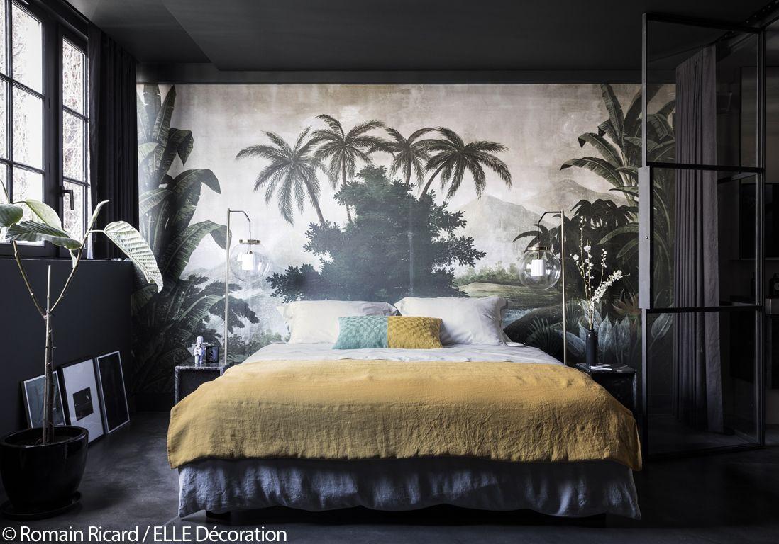 Deco Chambre Style Exotique paris : visitez cet incroyable appartement noir sous les