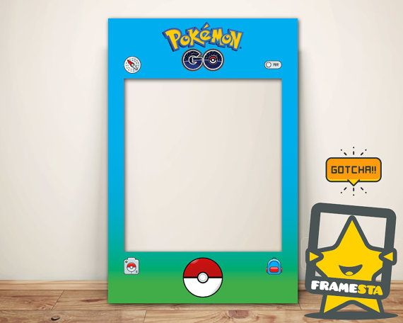 diy pokemon go party photo booth prop frame instant by framesta