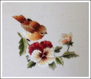 Trish Burr vintage embroidery miniature