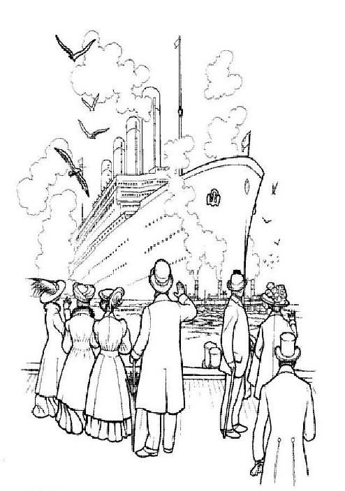 are children interested in the titanic or will this colouring page be used by an adult titanic enthusiast titanic coloringpages