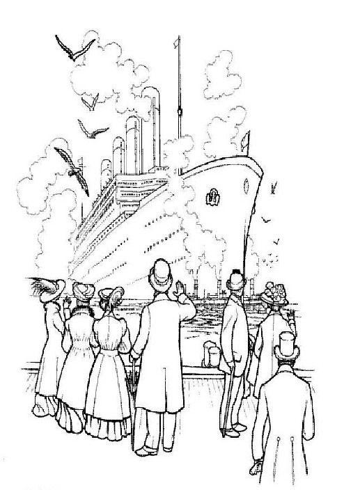 Titanic colouring page | colo | Pinterest | Colores, Dibujos y Decoupage