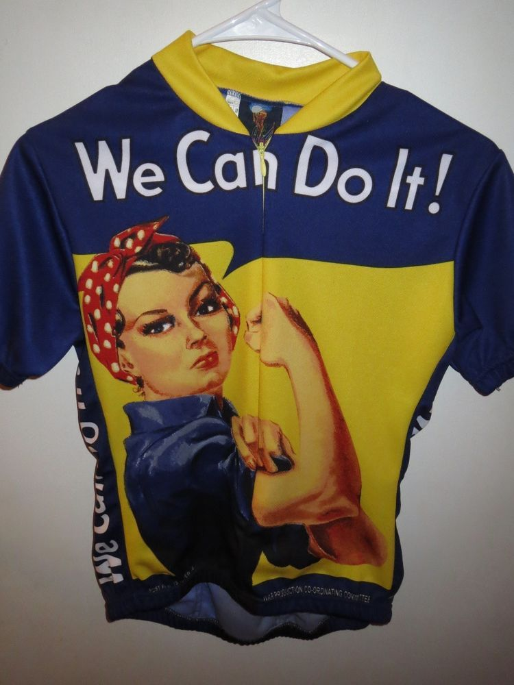 Retro Image Apparel We Can Do It Rosie the Riveter Cycling Jersey Size  Womens M 14452fa8a