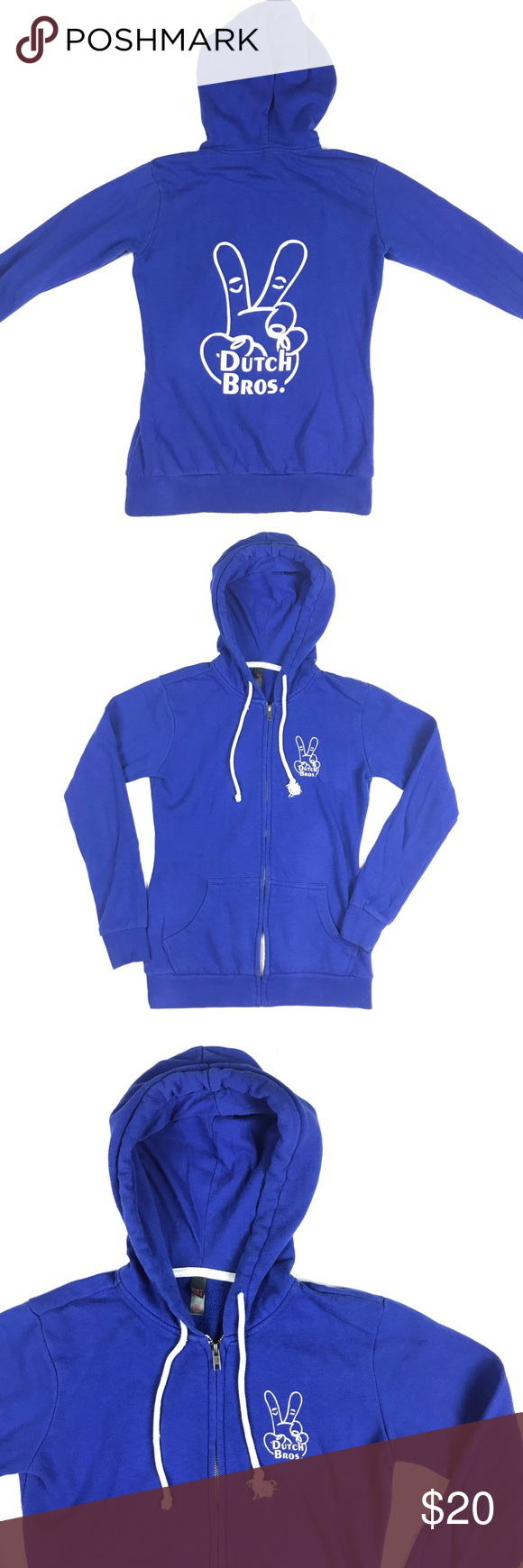 Dutch Bros Coffee Hoodie Peace Logo Zip Up Dutch Bros Brothers Coffee Hoodie Peace Logo Womens XS Zip Up   19121B Dutch Bros Tops Sweatshirts & Hoodies #dutchbros