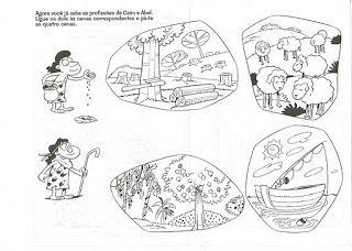 Criancas Para Deus Atividades Caim E Abel Com Imagens Caim E