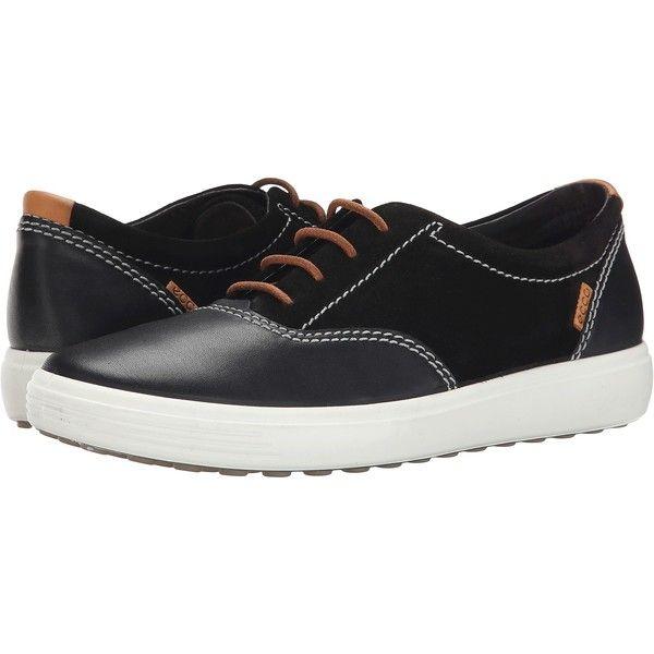 Womens Shoes ECCO Soft VII Tie Black/Black