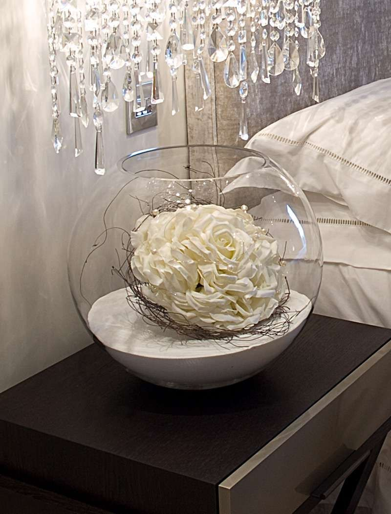 Artificial Flowers In Fishbowl Vase Vase Pinterest Flowers