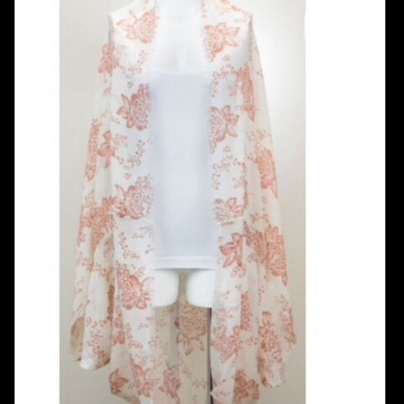 Anthropologie garden flowers kimono new Viscose 60 inches square. New Anthropologie Accessories Scarves & Wraps