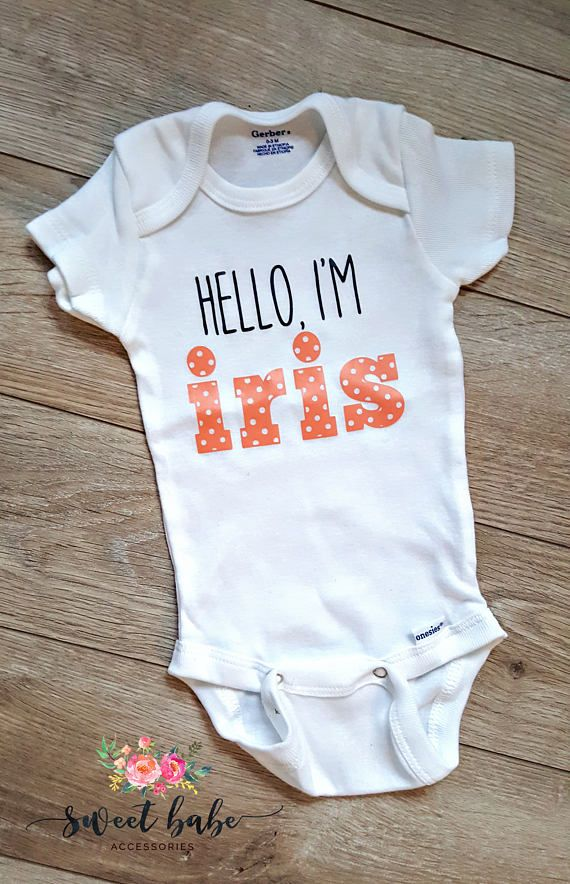 Names Embroidered Baby Romper Babygrow Gift Personalised Wedding Day