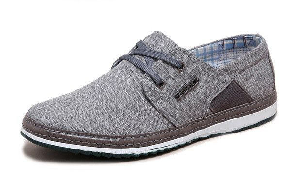 Espadrilles Men's Canvas Shoes Mens Casual Shoes Outdoor Exercise Sneakers Work (Color : Gray Size : 45)