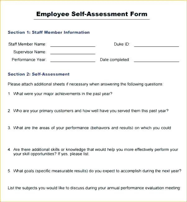 Self Appraisal Form Answers Examples Self Evaluation Employee Evaluation Employee Performance Appraisal