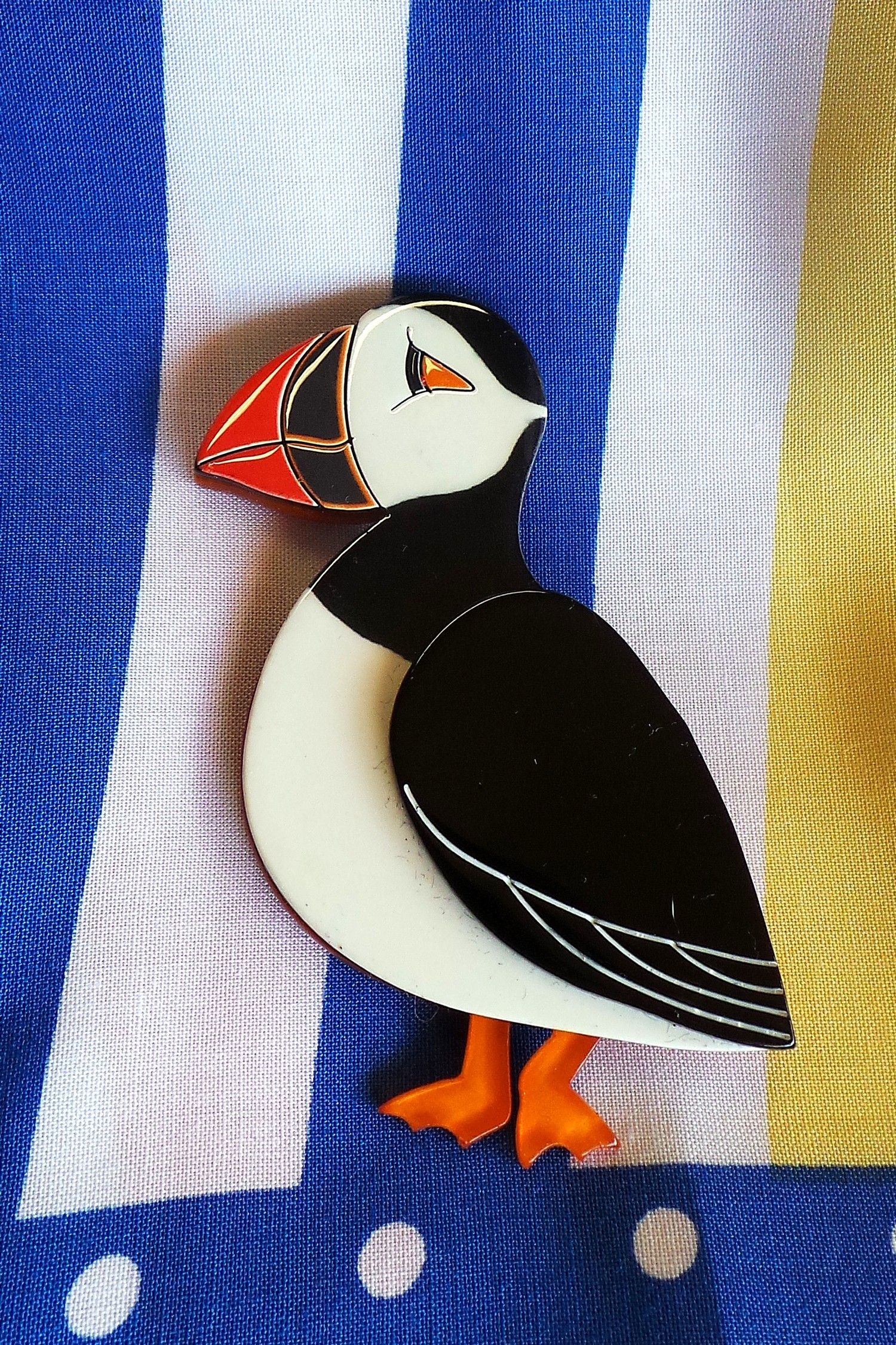 piccolo puffin brooch 29 99 erstwilder jewellery pinterest