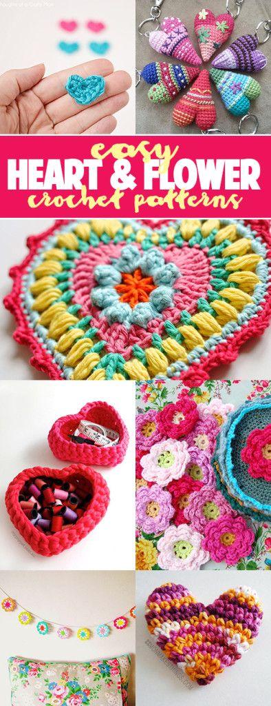 Fácil patrones de corazón y ganchillo | Crochet | Pinterest ...