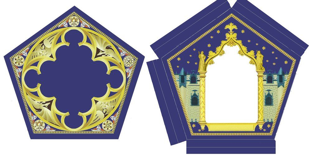 Chocolate frog card template 1 of 2 by isaacsporcaelus