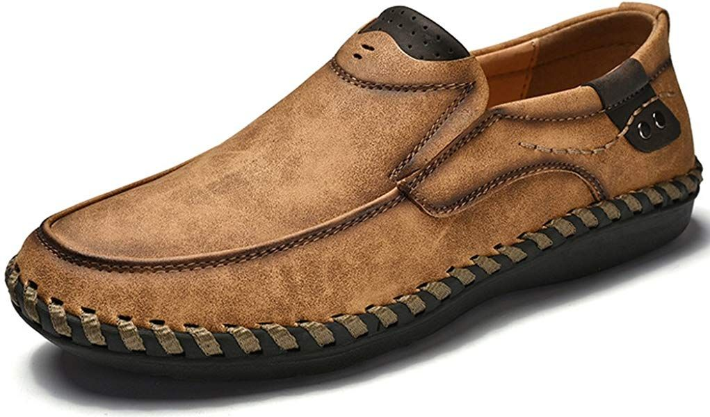 9130751d1f Phefee Mens Casual Leather Driving Shoes for Mule (Brown 42)  Amazon.co.uk   Shoes   Bags