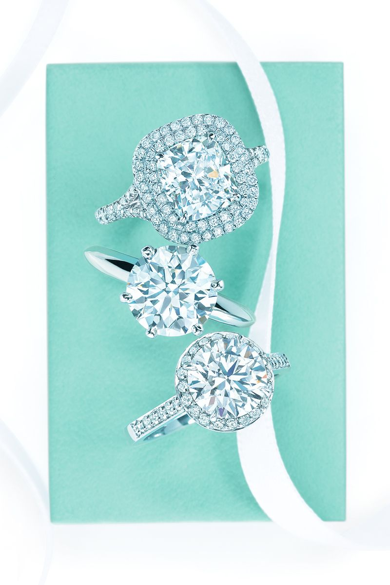 The Most Beautiful Rings On Earth Diamond Engagement Rings, From Top:  Tiffany Soleste