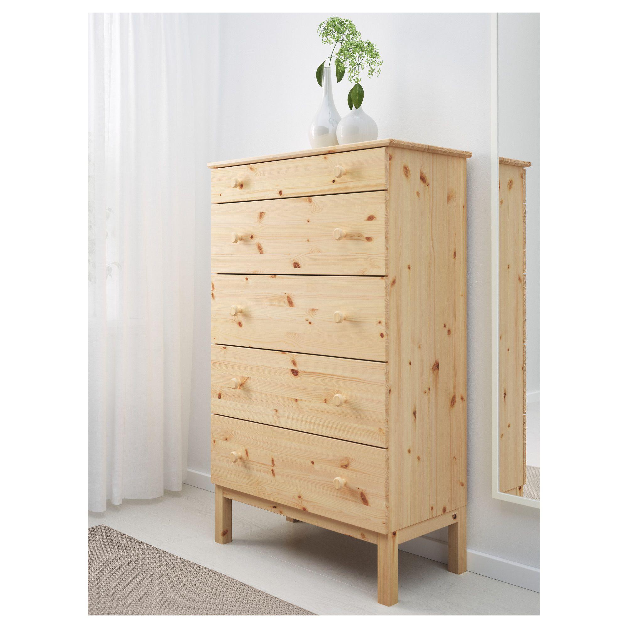 TARVA Komoda, 5 szuflad, sosna   Pine, Drawers and Bedrooms