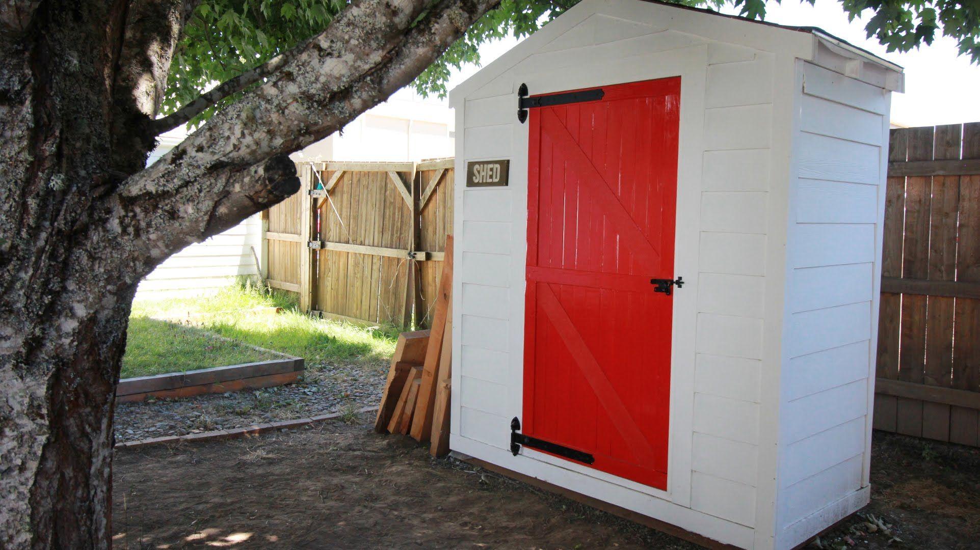 Diy lawn u garden storage shed part outdoor retreat pinterest