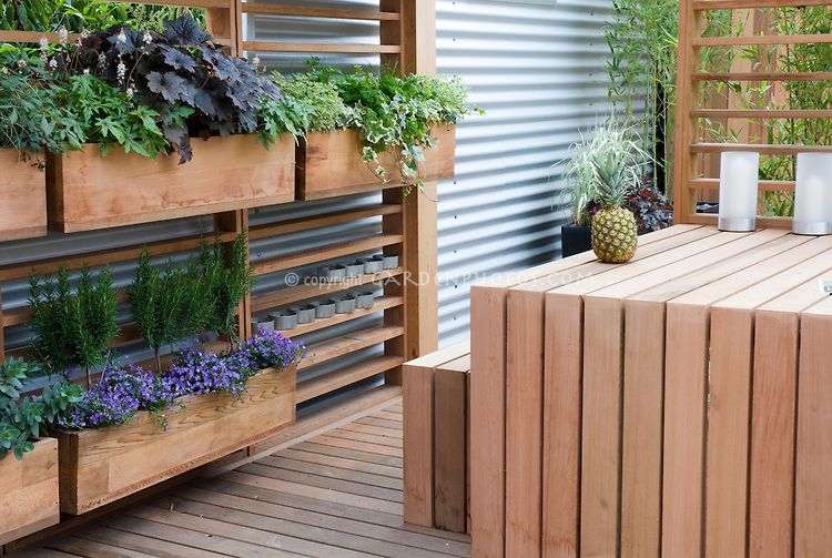 Deck With Windowbox Herbs And Flowers   Plant U0026 Flower Stock Photography:  GardenPhotos.com