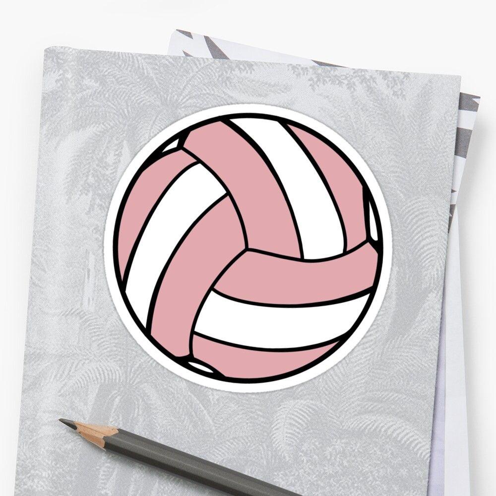 Aesthetic Volleyball Sticker In Pink Sticker By M K Norman In 2020 Sticker Design Stickers Vinyl Sticker
