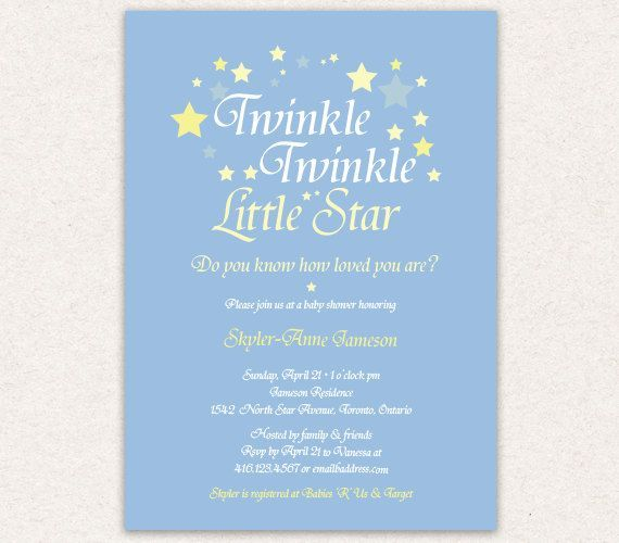 Twinkle twinkle little star baby shower invitation wording google baby shower invitation twinkle twinkle little star boy baby shower theme printable filmwisefo Gallery