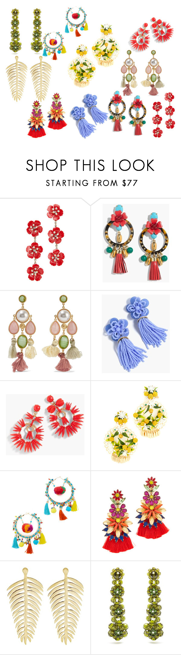 """Untitled #11"" by andrea-noches on Polyvore featuring Jennifer Behr, J.Crew, Ben-Amun, Mercedes Salazar, Rosantica, Elizabeth Cole, Anna + Nina and Simone Rocha"