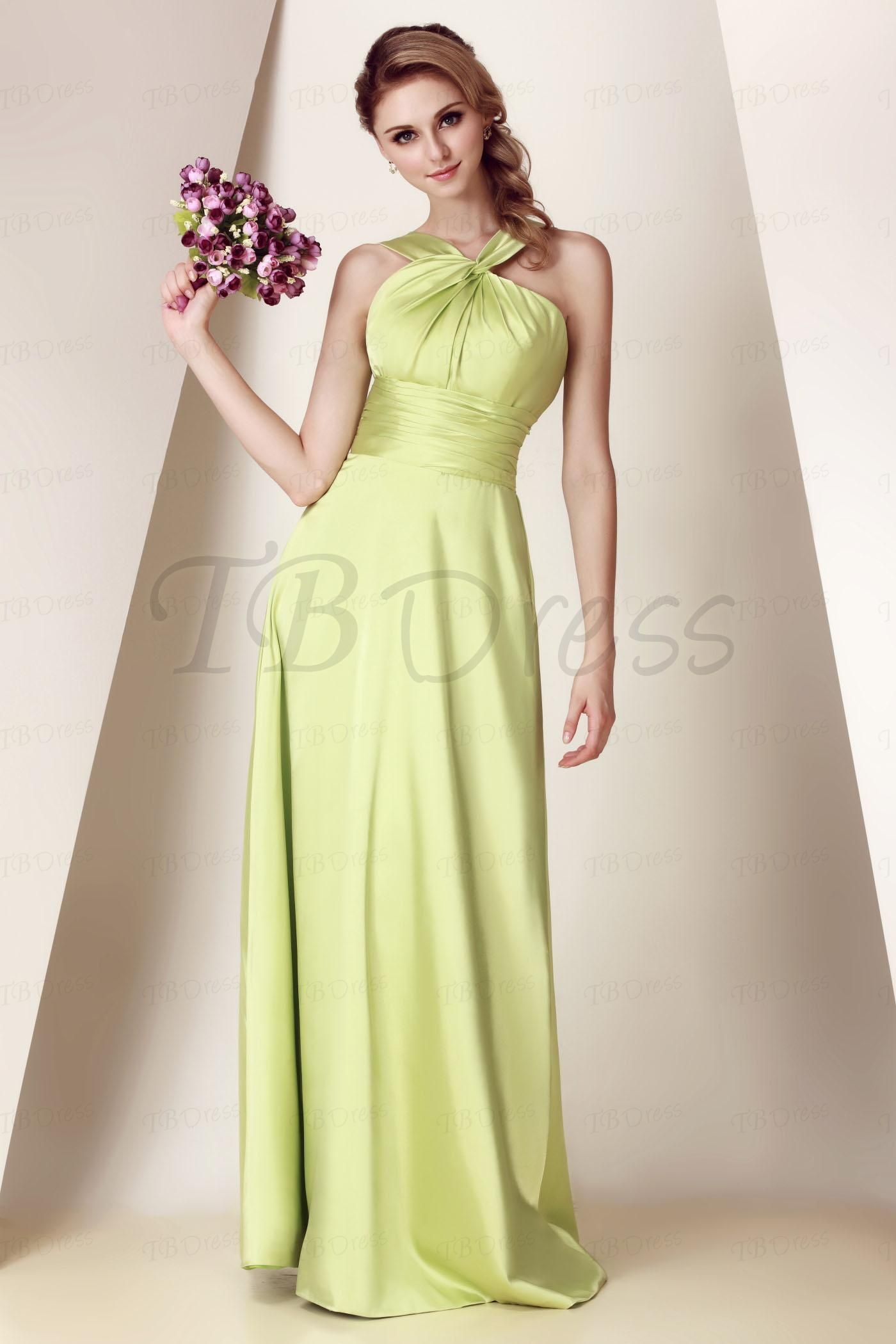 6a62e8bc63 Charming Ruched A-Line Straps Floor-Length Dasha s Bridesmaid Dress