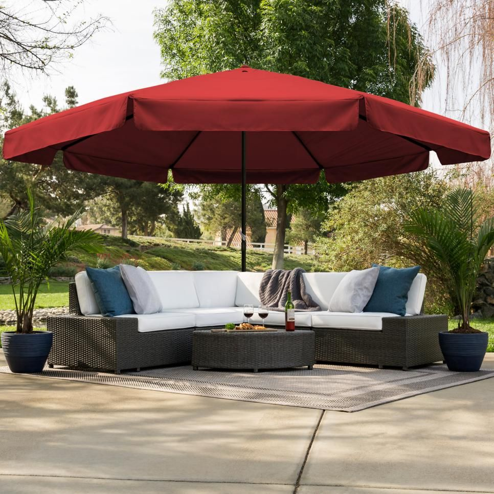 The Best Patio Umbrellas For Your Backyard Outdoor Patio Umbrellas Large Outdoor Umbrella Outdoor Patio Drapes