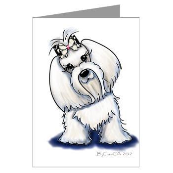 Maltese Supermodel Greeting Cards (Pk of 20) Cute animal