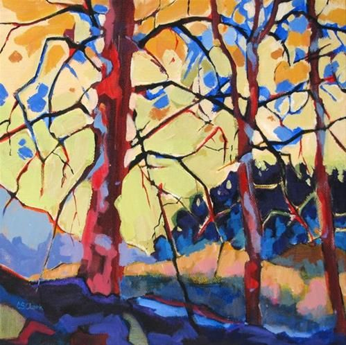 """Daily Paintworks - """"Treescape"""" by Carolee Clark"""