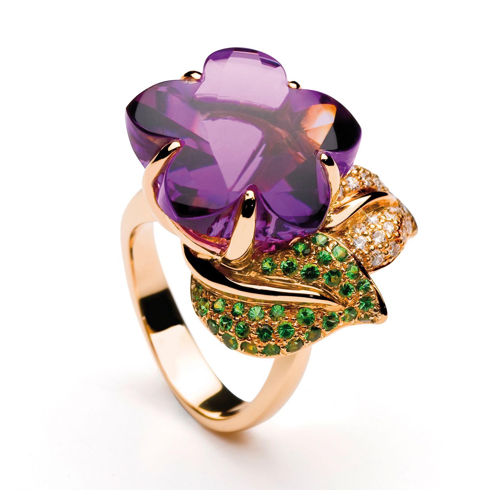 anillo-joyeria-flores-brillantes | Jewellery !! Flora !! | Pinterest ...