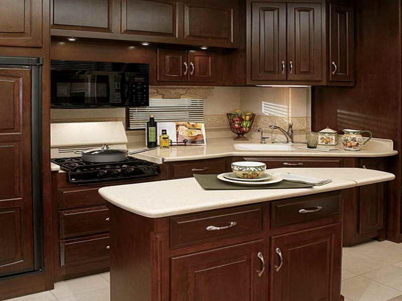 White Kitchen Countertops With Brown Cabinets wood cabinets white counter - google search | the cooking chambers