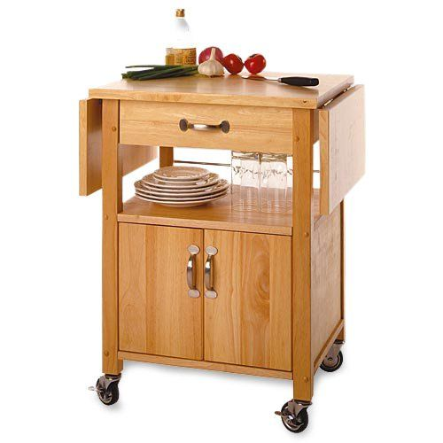 Fransisca Kitchen Cart Wood Kitchen Island Portable Kitchen Solid Wood Kitchens