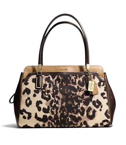 Product: COACH MADISON KIMBERLY CARRYALL IN OCELOT PRINT FABRIC
