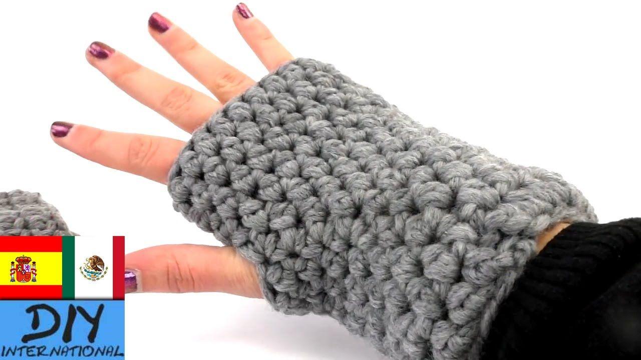 Cómo hacer guantes con ganchillo Paso a Paso - Guantes sin Dedos a ...