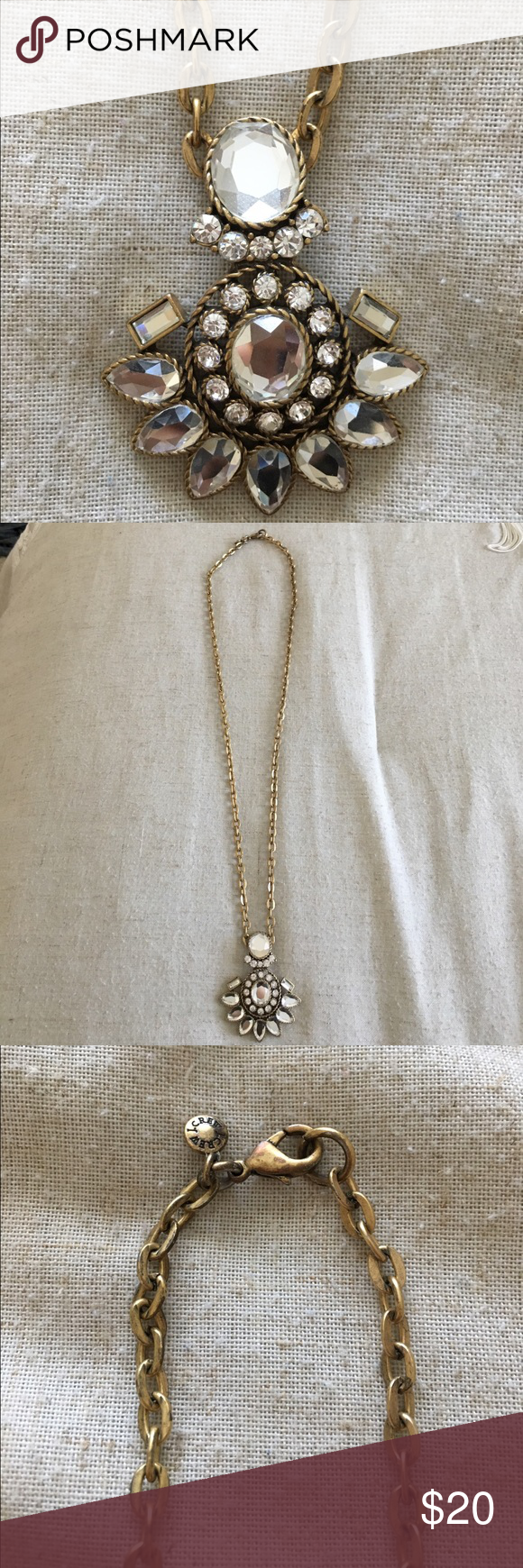 J crew crystal pendant necklace crystal pendant necklace