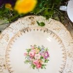 VIntage Plates for Wedding Table Decoration