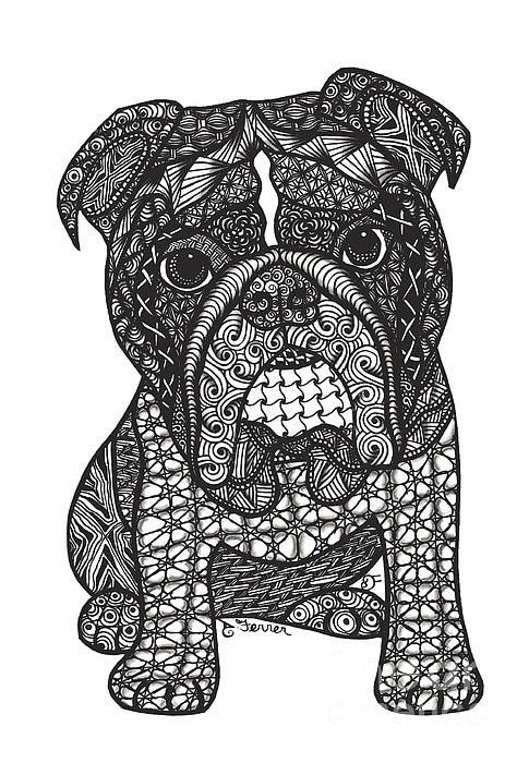 Good Dog English Bulldog Art Print By Dianne Ferrer