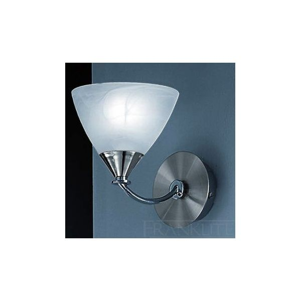 Franklite PE9671/786 Meridian 1 Light Wall Light Brushed Nickel £37.80
