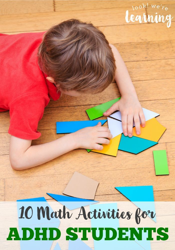 Keep your ADHDer happy during math class with these math activities for ADHD students!