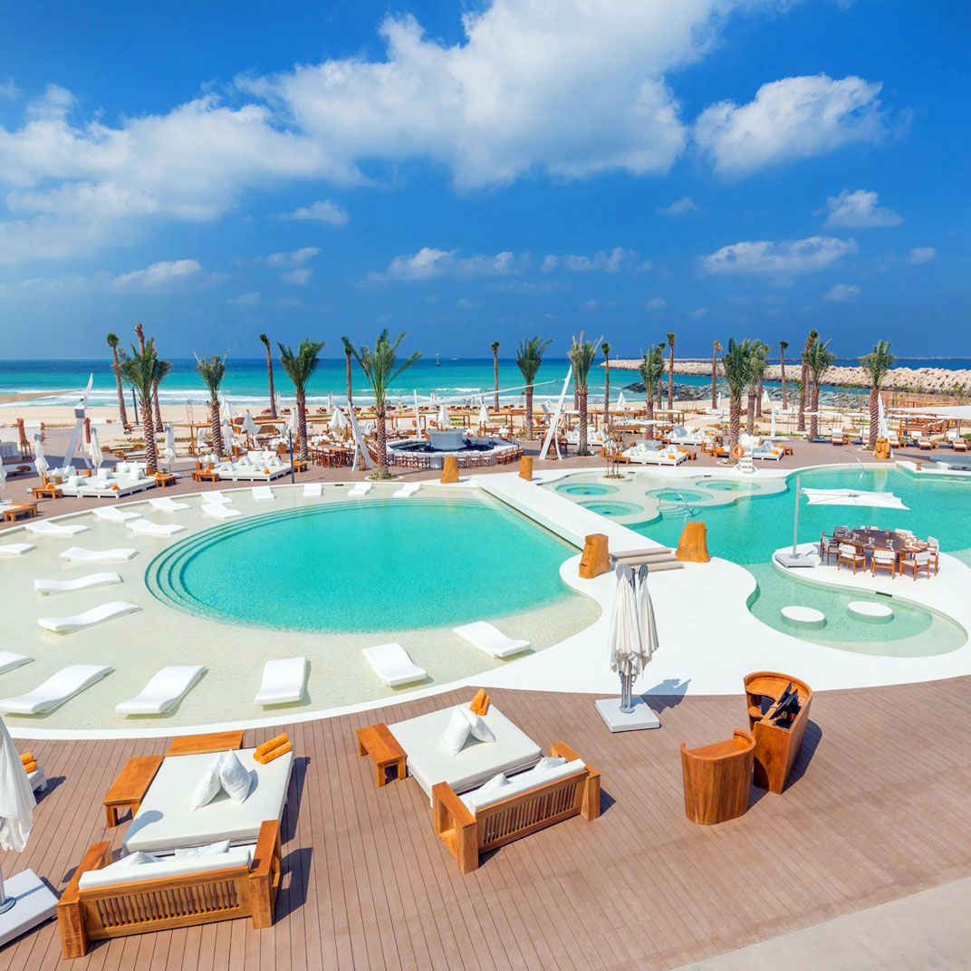 Nikki Beach Resort. Dubai UAE. It's the only hotel to sit directly ...