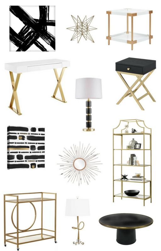 Black White & Gold Target Finds to Decorate Your Home images