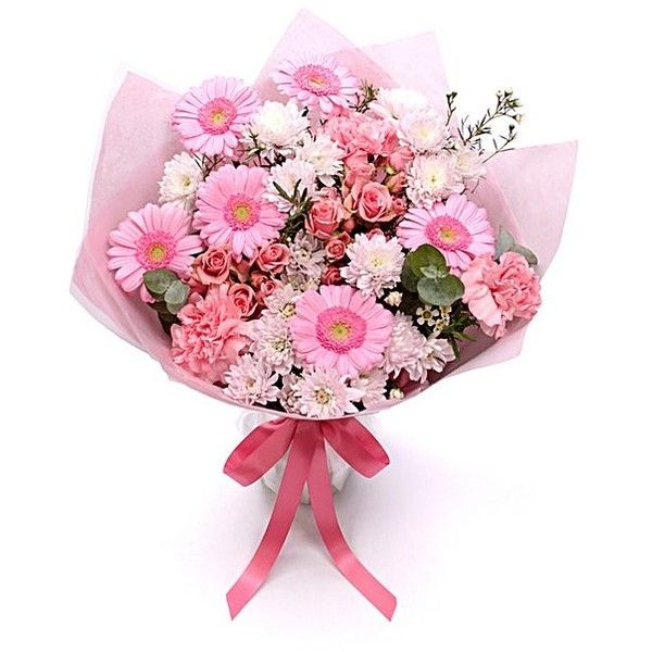 Personalised Pretty Pink Bouquet ($49) ❤ liked on Polyvore ...