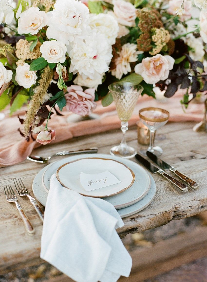 Modern Vintage Wedding Place Setting