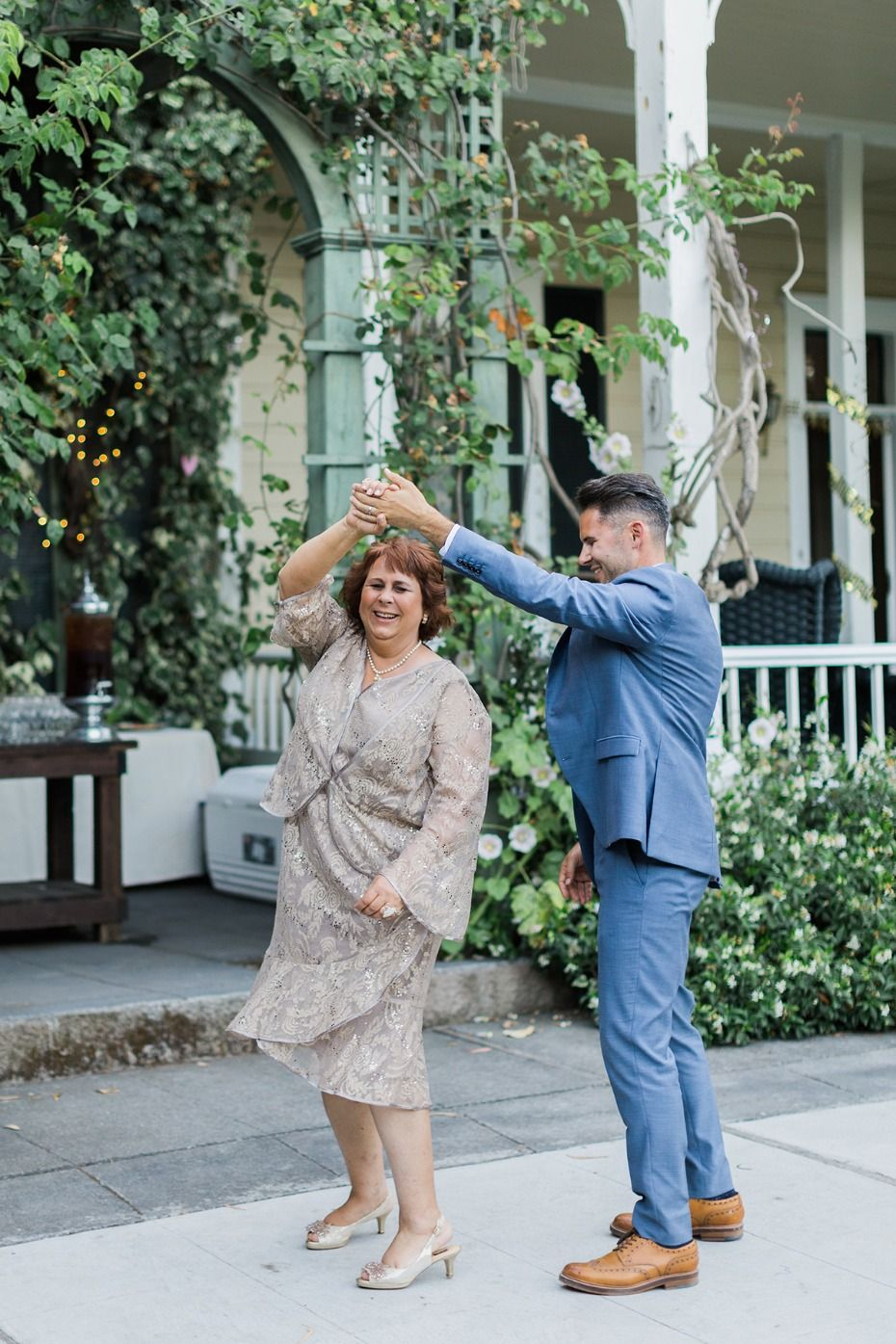 Mother dresses for sons wedding  This Outdoor Pink And Gold Garden Wedding Feels Like Spring