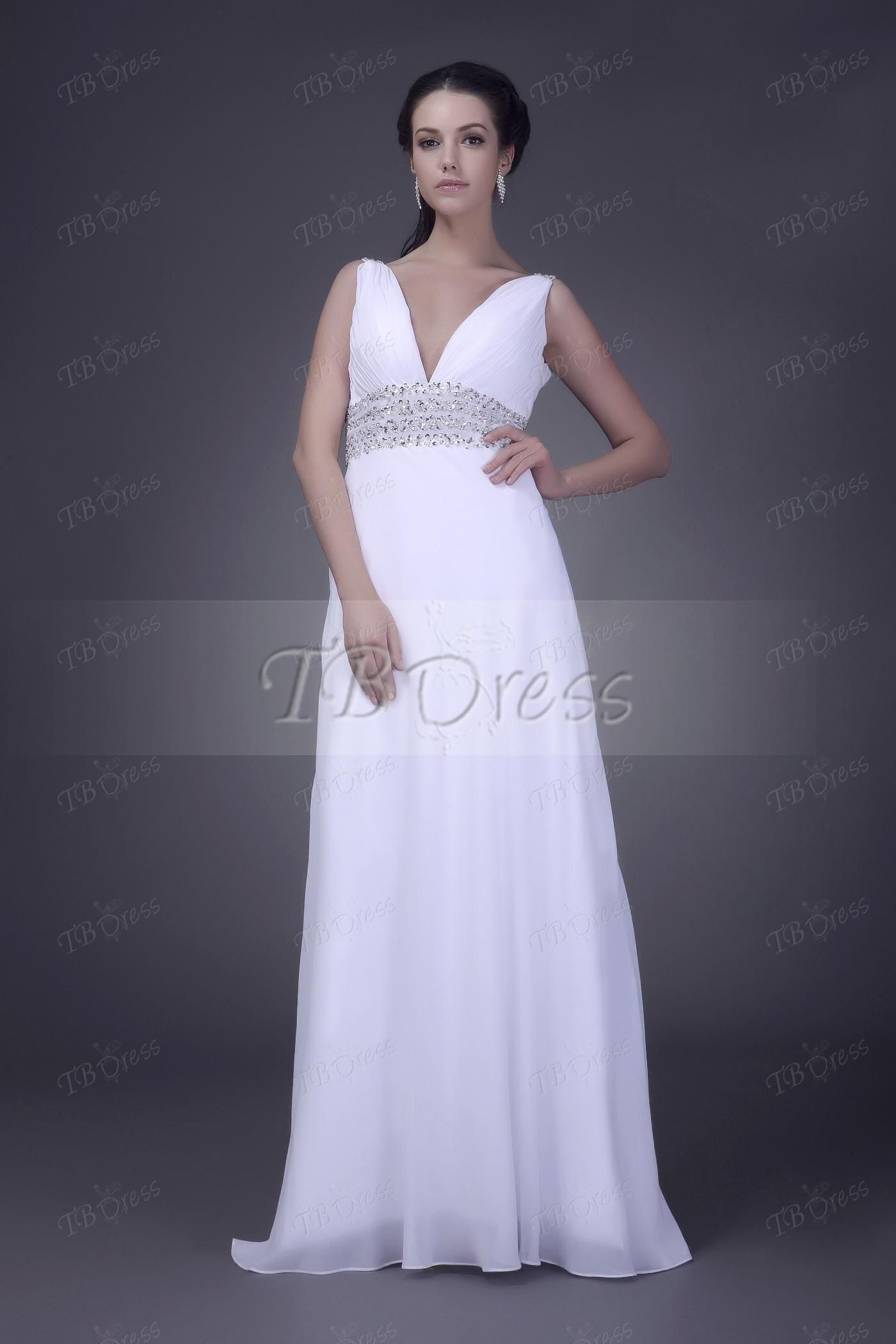 Fashionable Ruched Column/Sheath V-Neck Floor-length Veleria's Bridesmaid Dresses