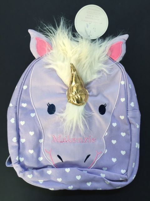 Pottery Barn Kids Unicorn Classic Critter Pre K Backpack