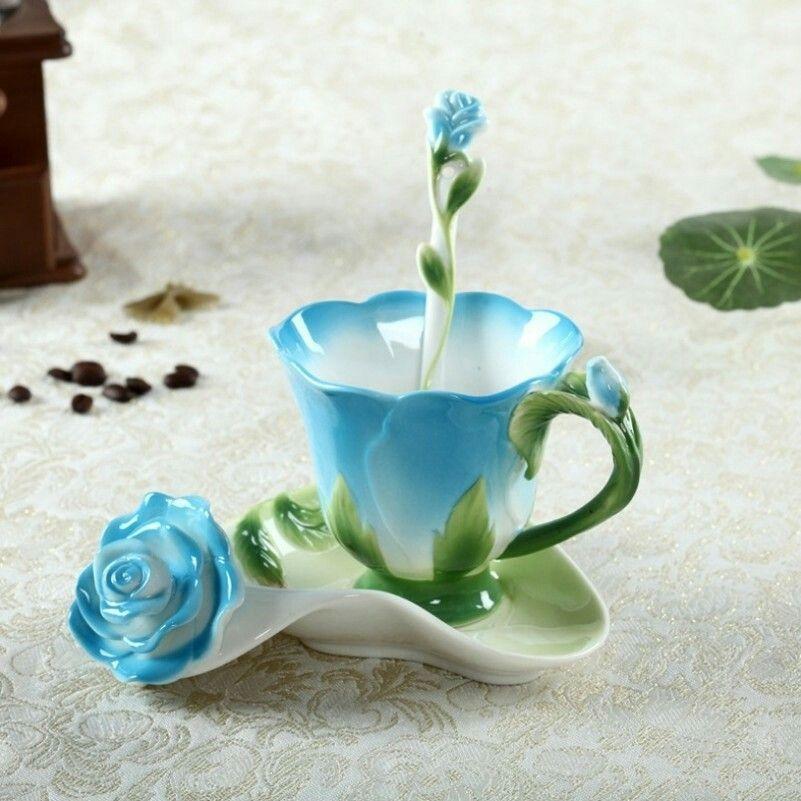 Blue Rose Cup Saucer......