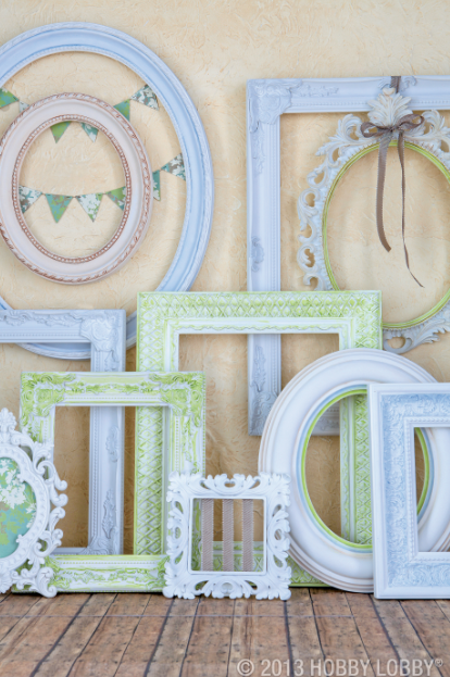 create instant antique looking frames acrylic paint a stiff brush and a paper