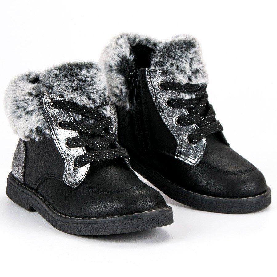 Polbuty I Trzewiki Dzieciece Dla Dzieci Americanclub American Club Czarne Dziewczece Botki American Sorel Winter Boot Boots Winter Boot