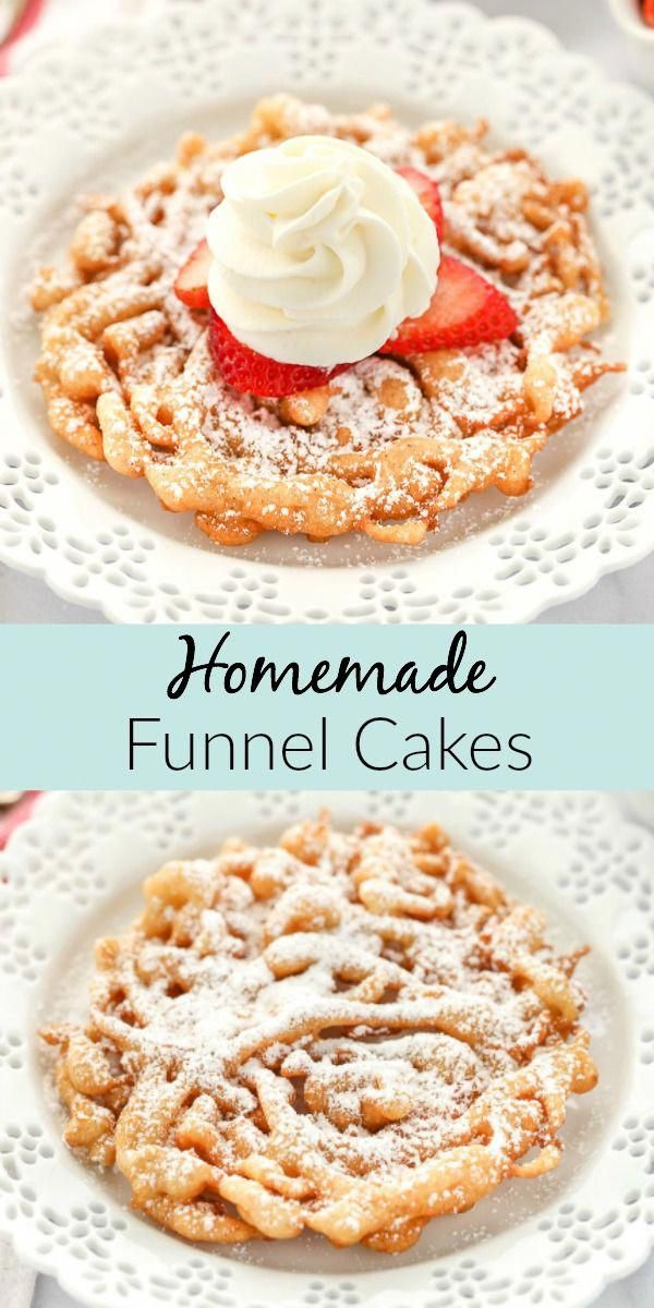 This easy homemade funnel recipe tastes just like the classic fair favorite. Top these with some powdered sugar or your favorite topping for a simple treat that everyone will love!
